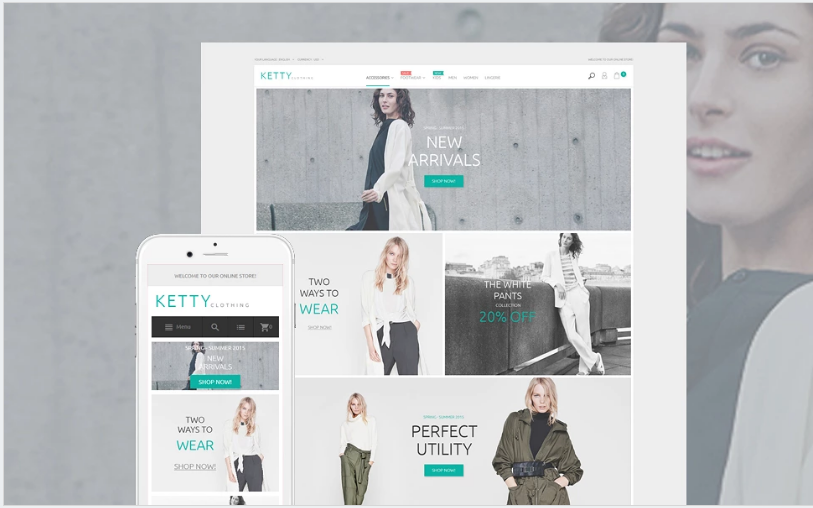Ketty - Fashion Store Magento Theme