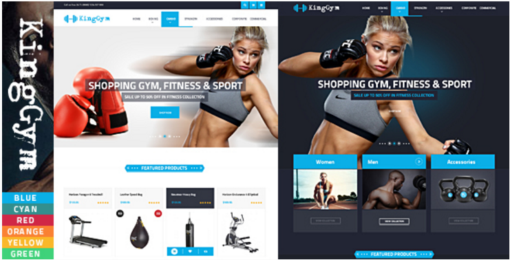 Kinggym - Fitness, Gym and Sport Opencart theme