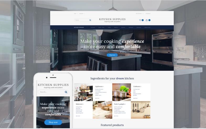 Kitchen Supplies - Kitchen Furniture OpenCart Template + RTL