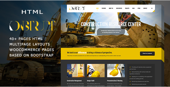 Konstruct - Html Construction, Building And Business template