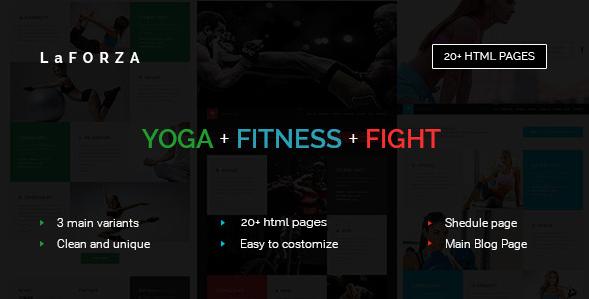 LaFORZA - Sport, Fitness & Yoga HTML