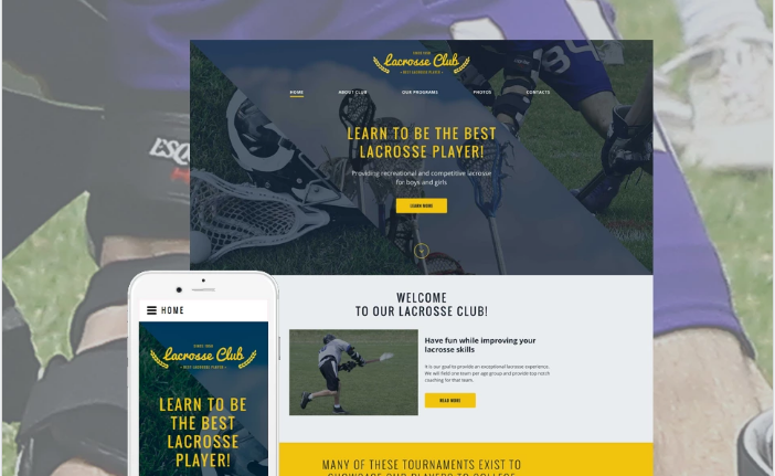 Lacrosse Club Website Template