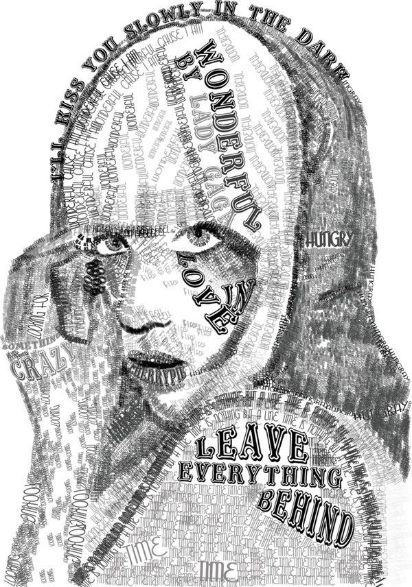 Lady-Gaga-Typography-by-Skye-Shettle