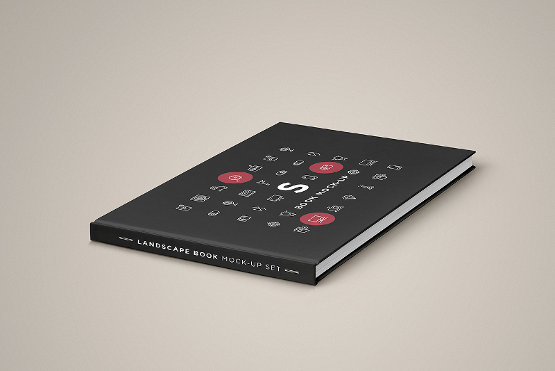 Landscape-Book-Mock-up