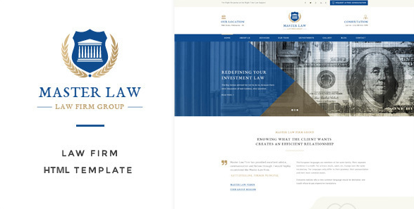 Law Master - Attorney & Lawyer HTML Template