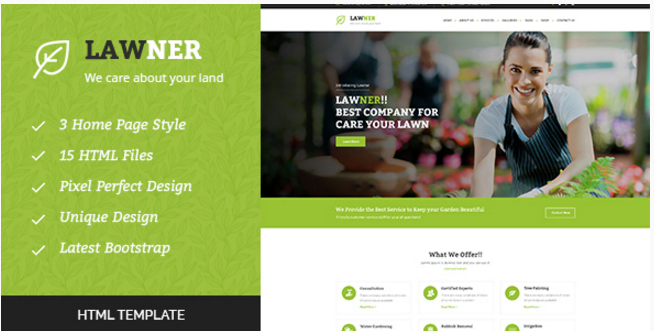 Lawner - Gardening and Landscaping HTML Template