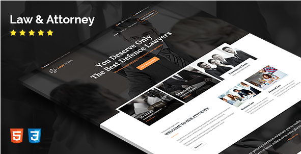 Legal justice - HTML Template