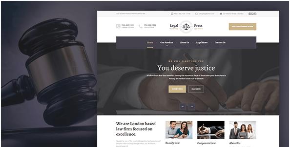 LegalPress - Law, Attorney, Insurance, Legal HTML Template