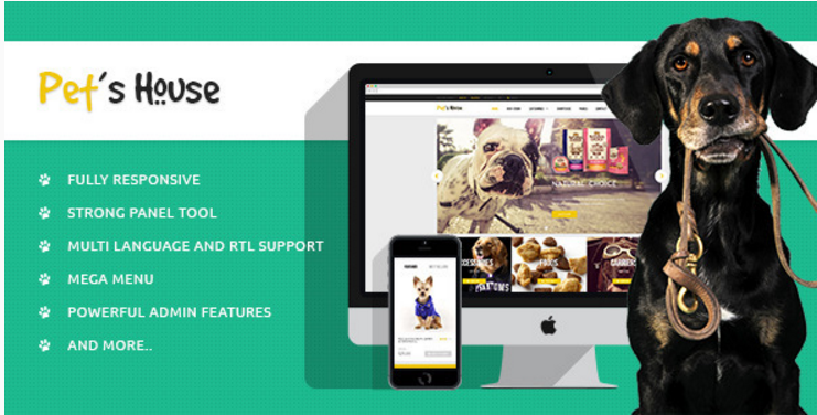 Leo Pet's House Prestashop Theme