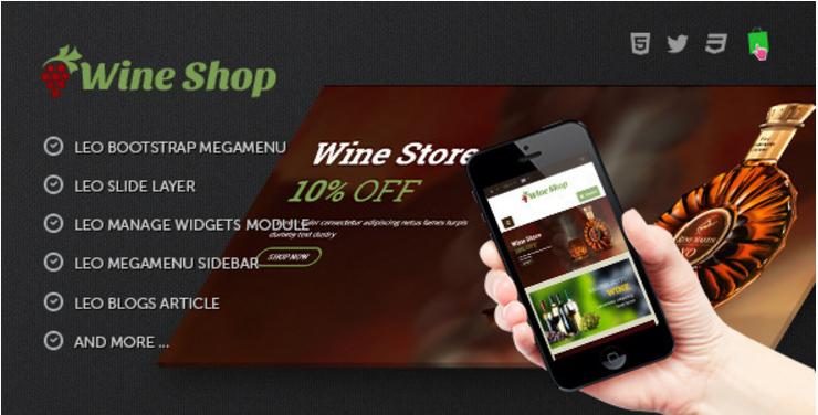 Leo Wine Store Theme