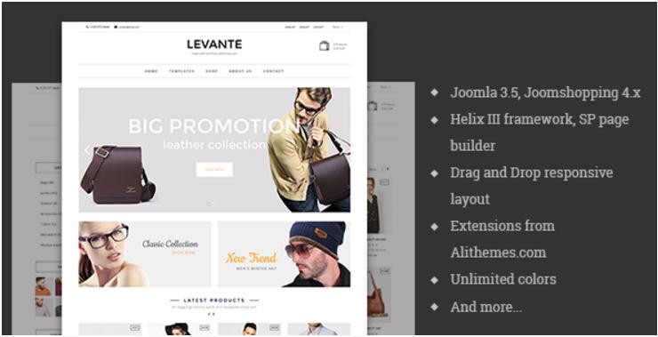 Levante - eCommerce Joomla Template
