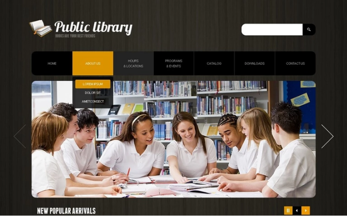 Library PSD Template