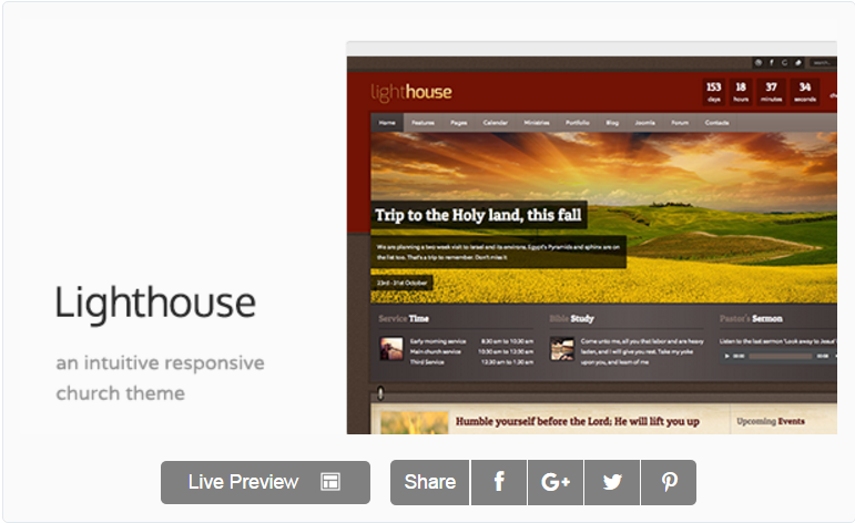 Lighthouse - Church & Charity Responsive Joomla Template