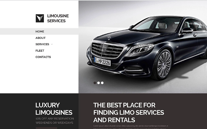 Limo Transportation Website Template