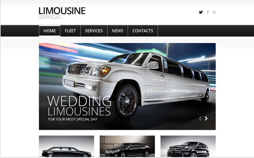 Limousine Services Joomla Template