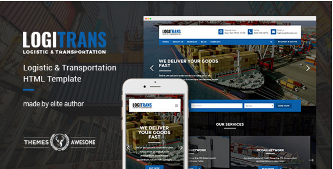 LogiTrans - Logistic and Transportation HTML Template