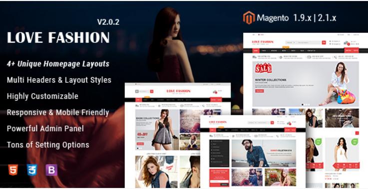 Love Fashion - Responsive Fashion Store Magento 2 & 1 Theme