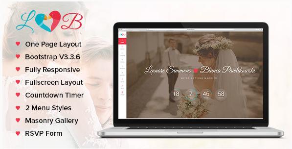Lovebirds - Responsive Wedding HTML Template