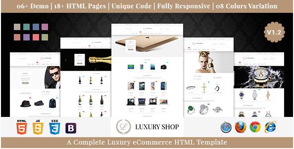 Luxury Shop eCommerce HTML Template