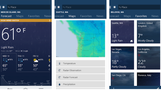 MSN Weather - Best Free Weather Android App