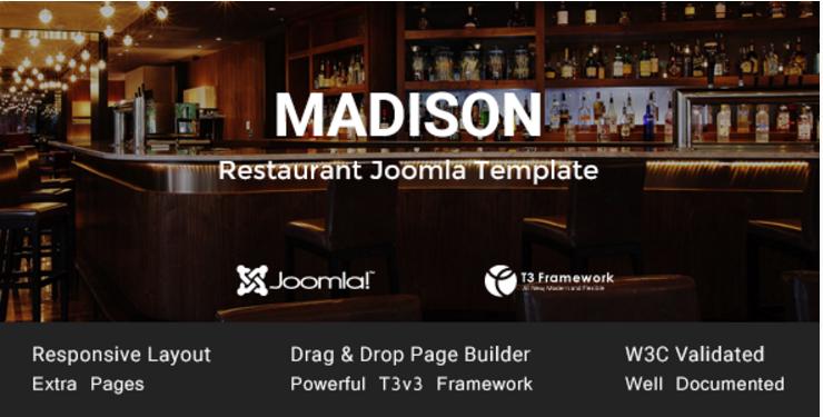 Madison - Joomla Restaurant Template