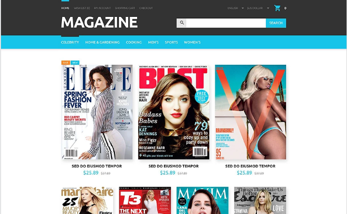 Magazines Store OpenCart Template