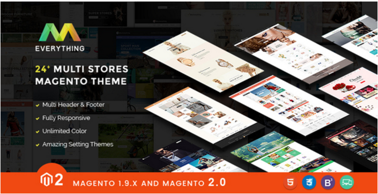 Magento 2.1 Themes & Magento 1.9 - All 40+ Creative Designs - Multipurpose Responsive EVERYTHING