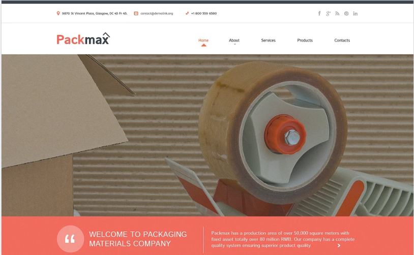 Maintenance Services Responsive Website Template