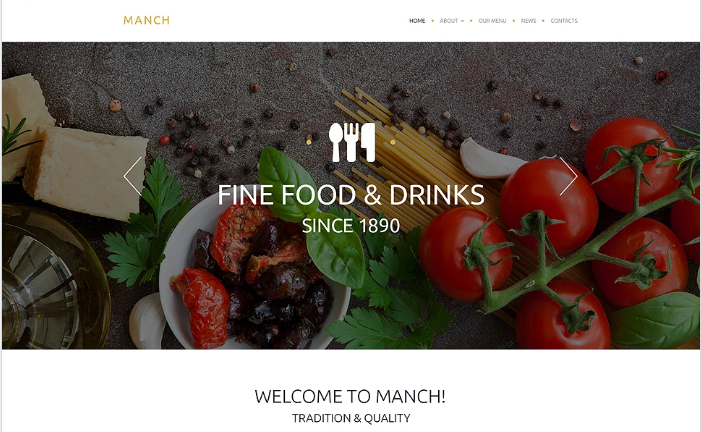 Manch Website Template