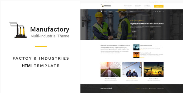Manufactory Multi-Industrial HTML Template