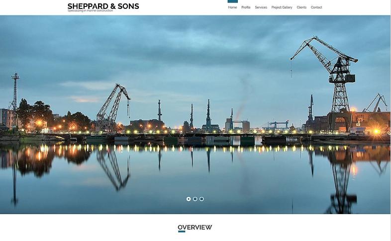 Marine Construction Company Website Template