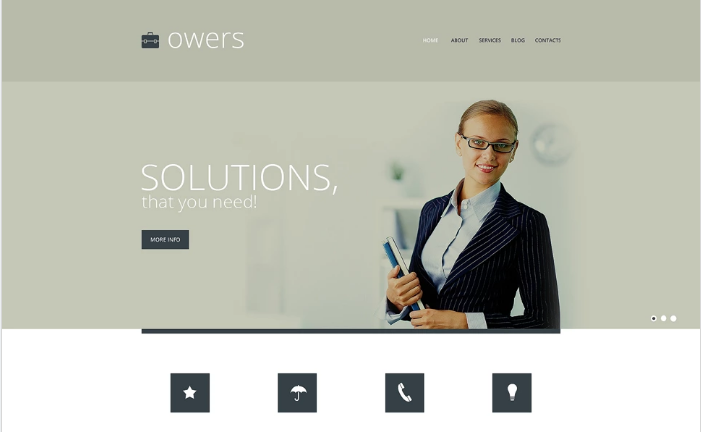 Marketing Agency Responsive Website Template