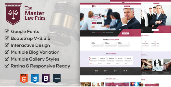 Master Law Agency Corporate & Business HTML Theme