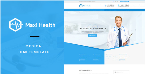 Maxi Health Medical & Health HTML Template