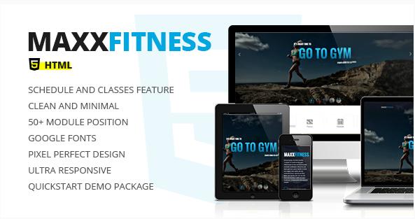 Maxx Fitness - Responsive HTML Template