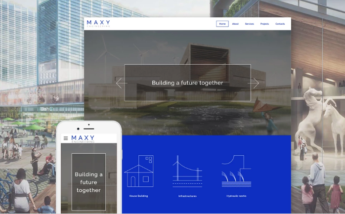 Maxy Website Template