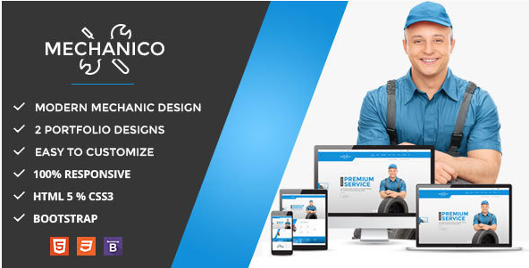 Mechanico - Car Mechanic Shop HTML Template