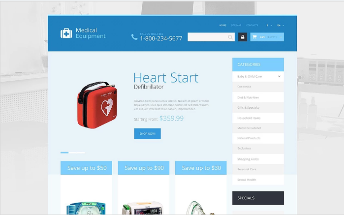 Medical Care PrestaShop Theme