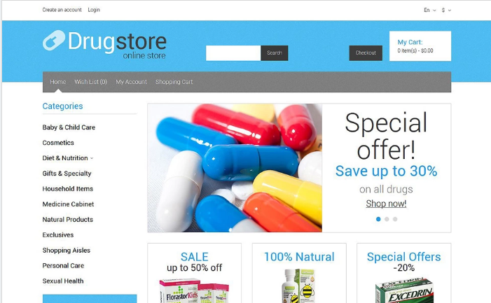 Medical Supplies OpenCart Template