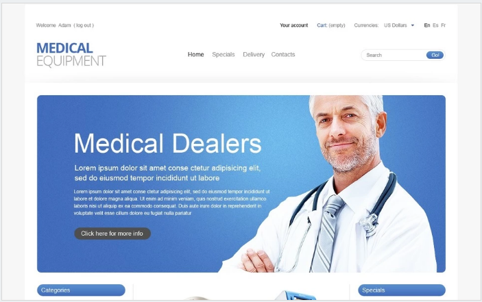 Medical Technologies PrestaShop Theme