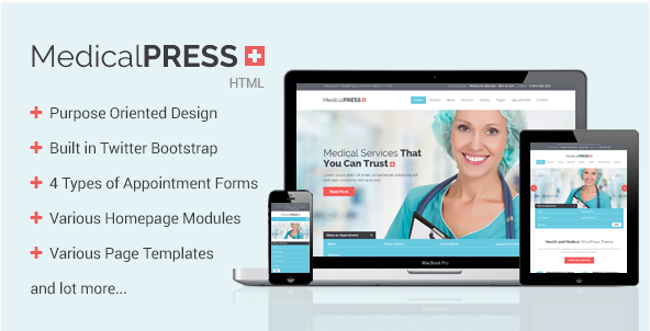 MedicalPress - Health and Medical HTML Template