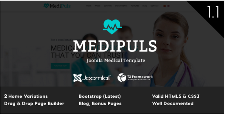 Medipuls - Joomla Medical Template