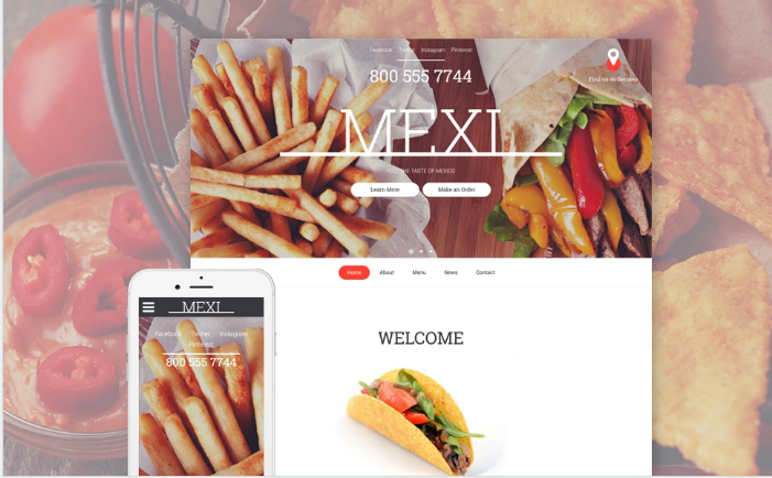 Mexican Restaurant Responsive Website Template
