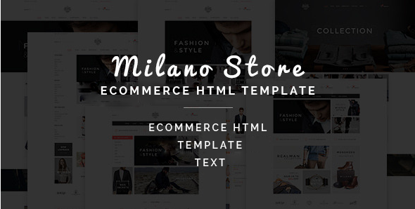 Milano - Multipurpose Ecommerce HTML Template