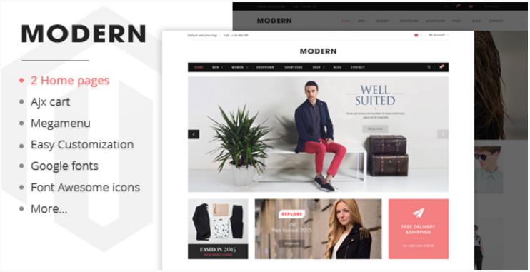 Modern - Responsive Magento Fashion Theme