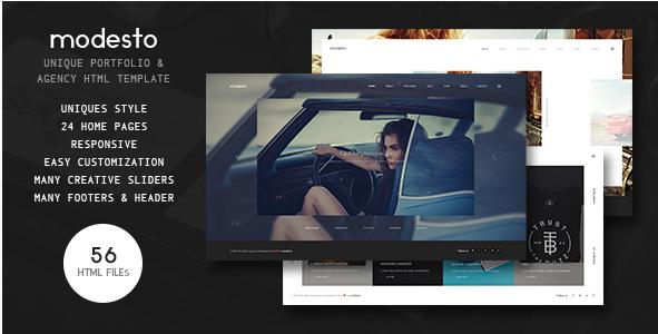 Modesto - Power Unique Portfolio, Photography & Agency HTML Template