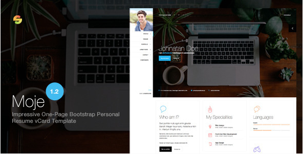 Moje. - Responsive Bootstrap Personal Resume vCard HTML