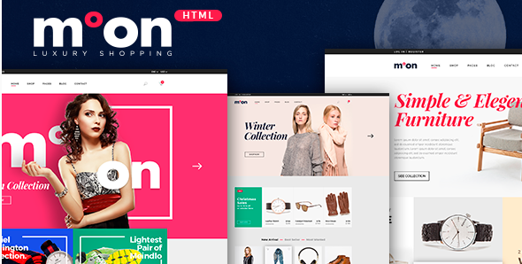Moon - eCommerce HTML Responsive Template
