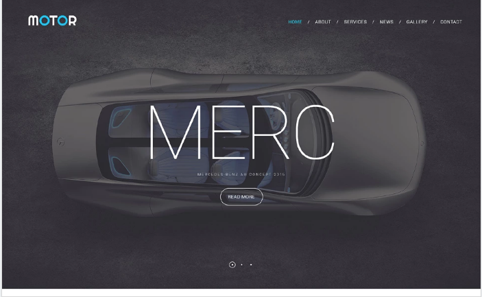 Motor Website Template