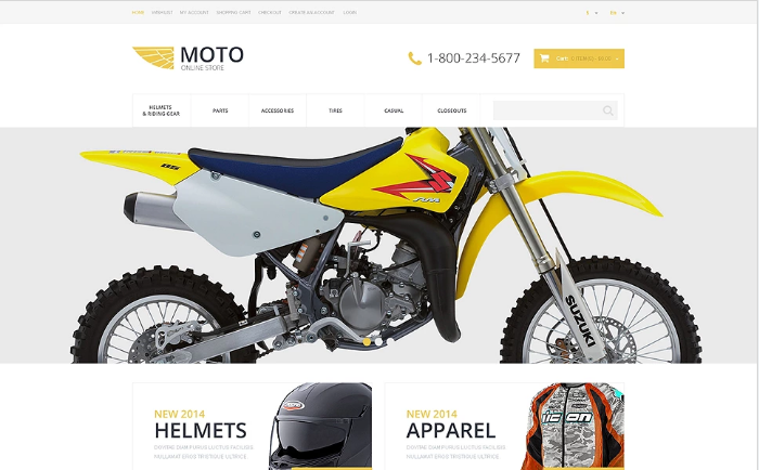 Motorcycle Store OpenCart Template